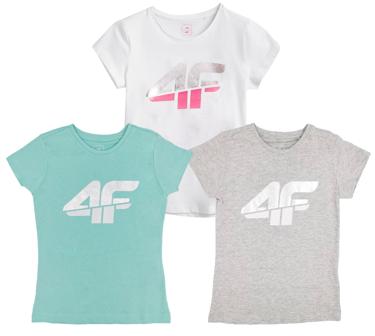 T-shirt dziecięcy 4F zestaw koszulek 3PAK