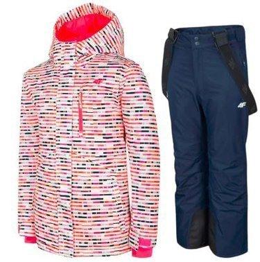 Zestaw narciarski dziewczęcy 4F kurtka spodnie