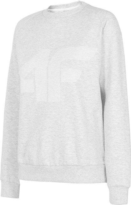 Bluza damska 4F BLD001 biały melanż ocieplana