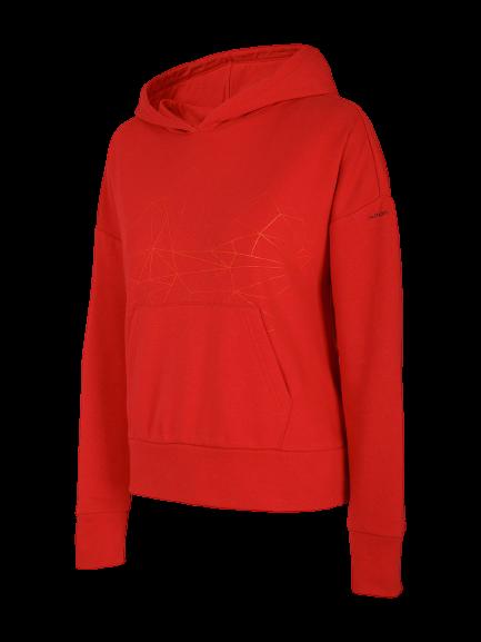 Bluza damska OUTHORN BLD614 z kapturem czerwona