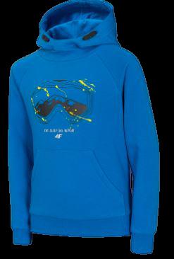 Bluza dziecięca 4F JBLM008A z kapturem