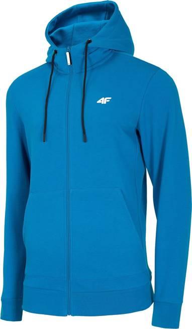 Bluza męska 4F BLM004 niebieska z kapturem