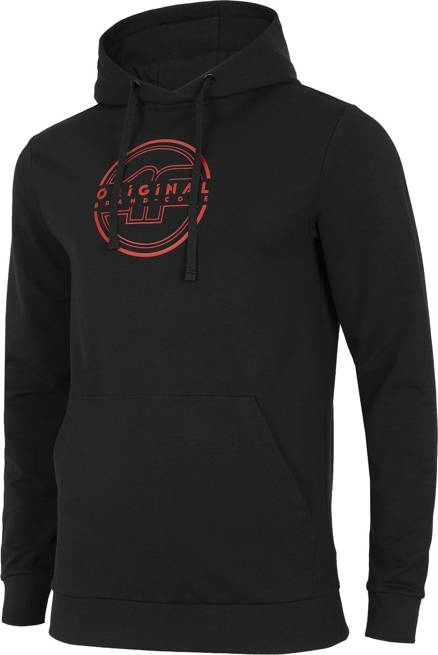 Bluza męska 4F BLM015 z kapturem czarny