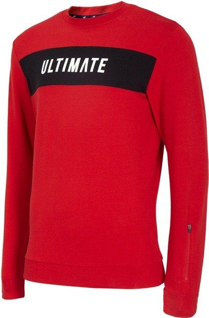 Bluza męska przez głowę 4F BLM014 czerwona