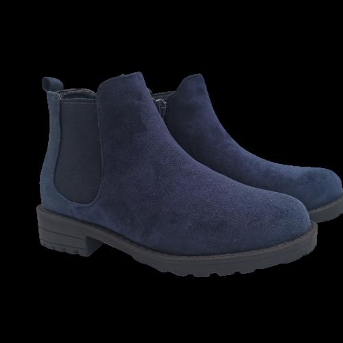 Buty dziecięce botki OM660 jesienne granatowe
