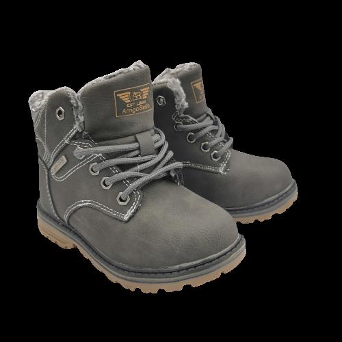 Buty jesienne dziecięce D7371-3 szare trapery