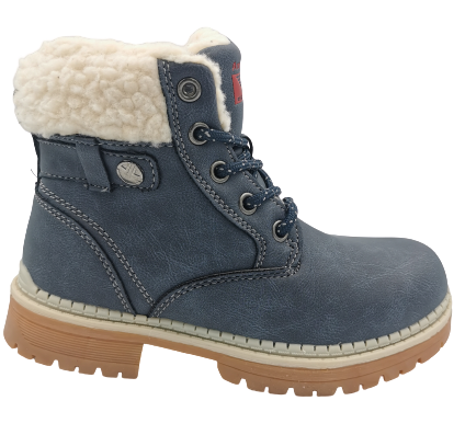 Buty zimowe dziecięce trapery CPM9259D-2 granat