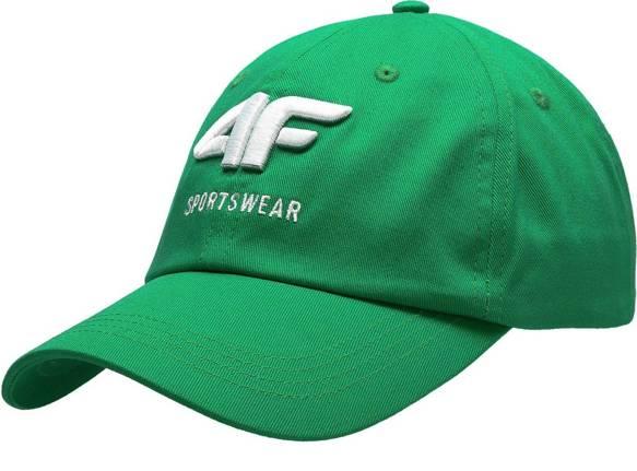 Czapka męska z daszkiem 4F CAM009 zielona