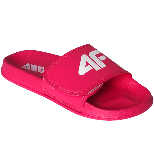 Klapki dziewczęce 4FJKLD003 sportowe różowe