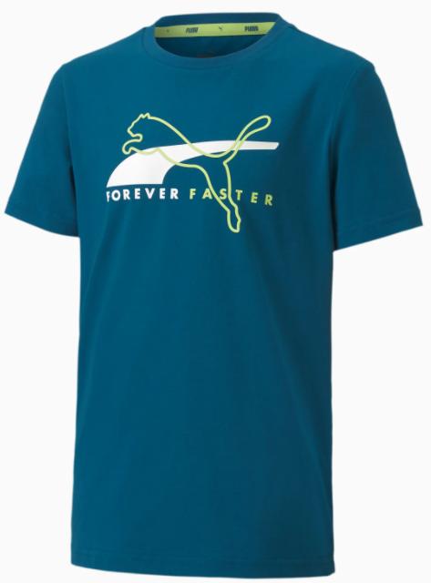 Koszulka dziecięca z bawełny PUMA niebieski