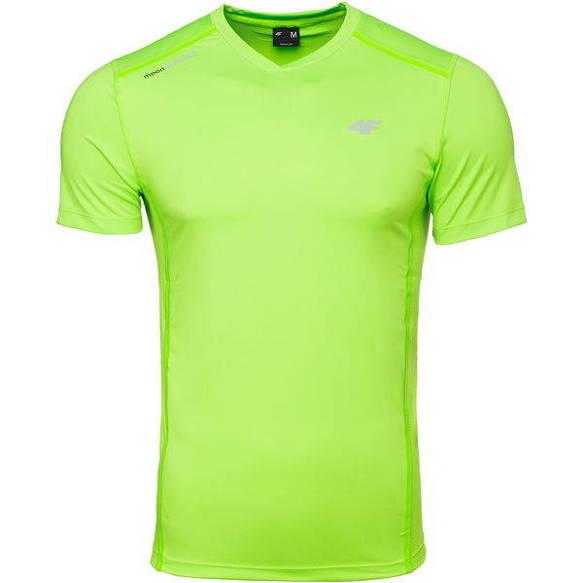 Koszulka sportowa treningowa 4F zielony neon XXL