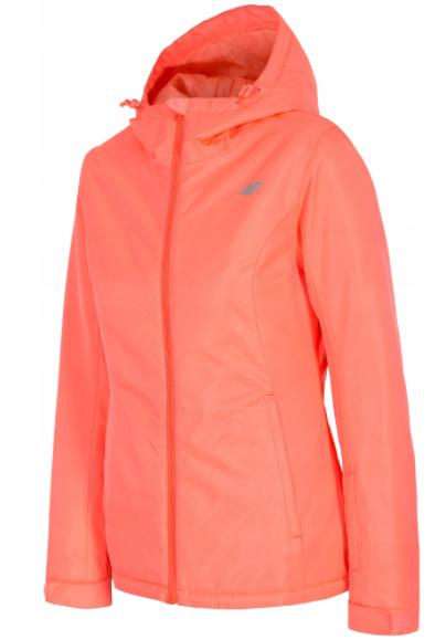 Kurtka damska narciarska 4F KUDN001 koral neon XS