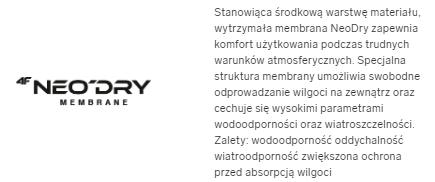 Kurtka męska 4F KUM002 parka czarna