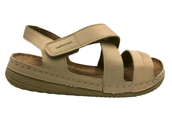 Obuwie medyczne sandały zdrowotne 255330-2 beżowe