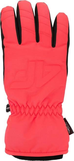 Rękawice narciarskie 4F RED006 zimowe neon