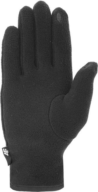 Rękawiczki polarowe 4F REU073 czarne zimowe