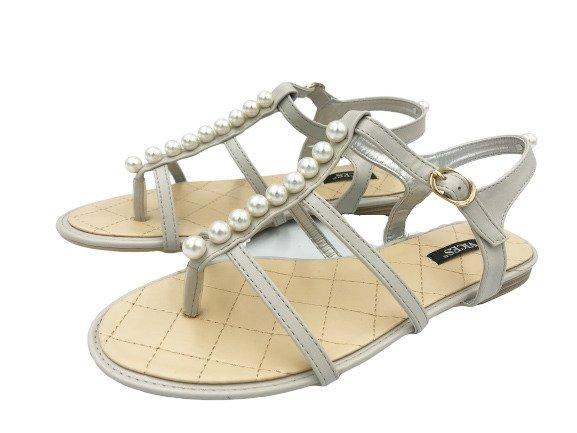Sandały damskie japonki szare 3095-5