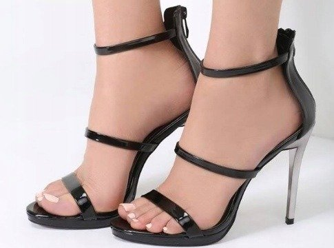 Sandały damskie na obcasie eleganckie 1230-1