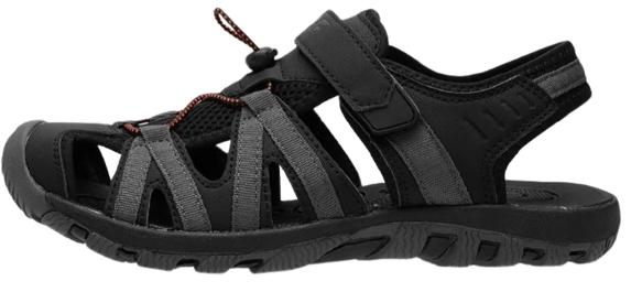 Sandały męskie 4F SAM003 sportowe szaro czarne