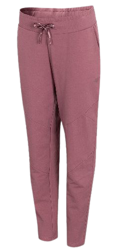 Spodnie damskie 4F SPDD015 dresowe ciemny róż