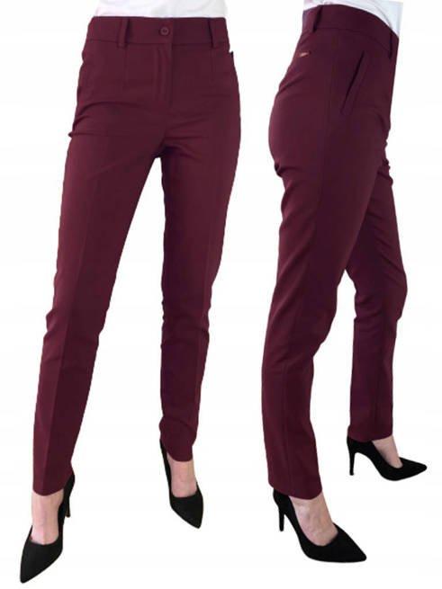Spodnie damskie Sigma fiolet śliwka Długie