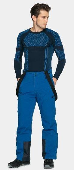 Spodnie narciarskie męskie 4F SPMN003 niebieskie