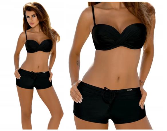 Strój kąpielowy Gabbiano PAMELA C/H bikini czarny