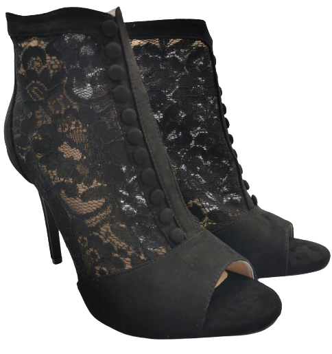 Szpilki damskie wysokie czarne eleganckie 1424-1