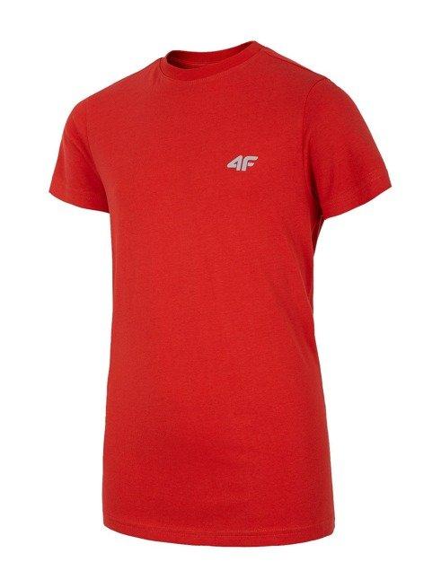 T-shirt chłopięcy 4F JTS023C CZERWONY