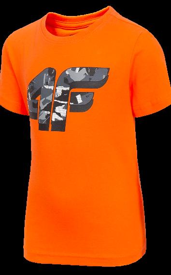 T-shirt chłopięcy 4F JTSM005B bawełniany