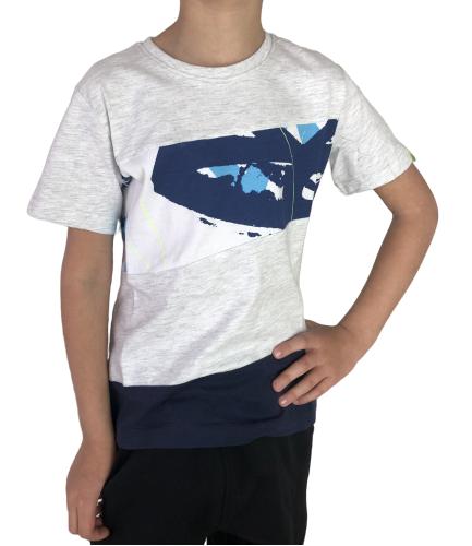 T-shirt chłopięcy bawełniany 4F JTSM010 SZARY