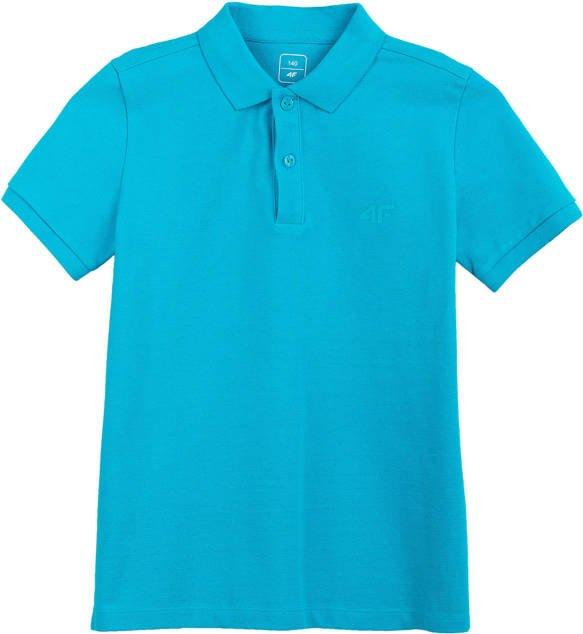 T-shirt chłopięcy koszulka polo JTSM009 niebieska