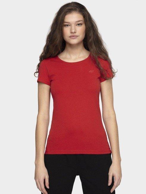 T-shirt damski 4F TSD001 czerwony