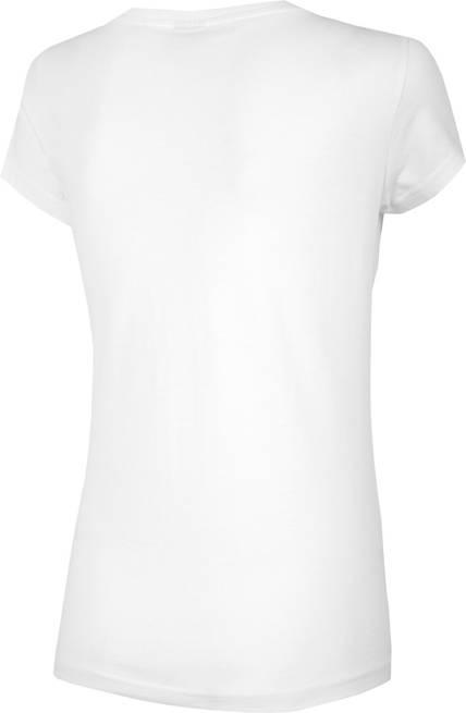 T-shirt damski 4F TSD018 bawełniany biały