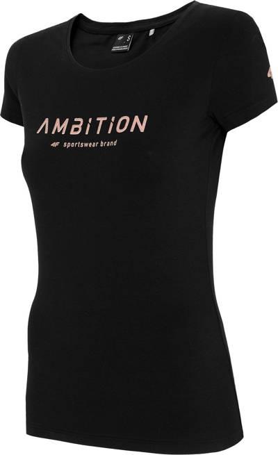 T-shirt damski 4F TSD033 czarny bawełniany