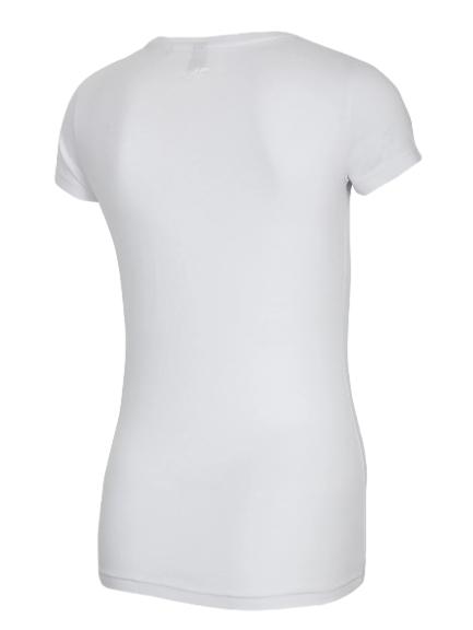 T-shirt damski 4F TSD500 koszulka kibica biała