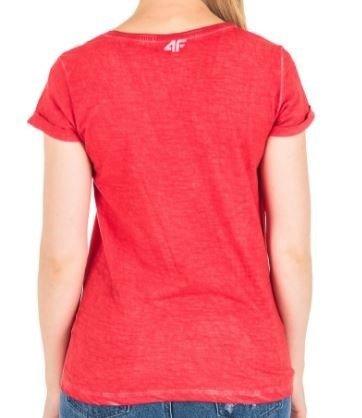T-shirt damski 4F koszulka czerwona TSD018
