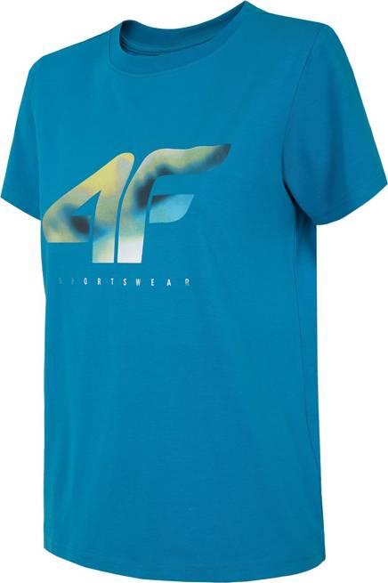 T-shirt damski 4F oversize TSD023 niebieski