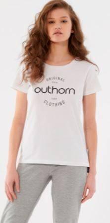 T-shirt damski OUTHORN TSD606A bawełniany biały