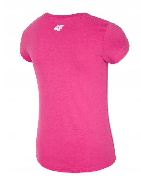 T-shirt dziewczęcy 4F JTSD003B koszulka różowa