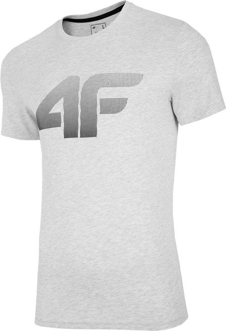T-shirt męski 4F TSM004 JASNY SZARY
