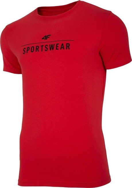 T-shirt męski 4F TSM005 CZERWONY