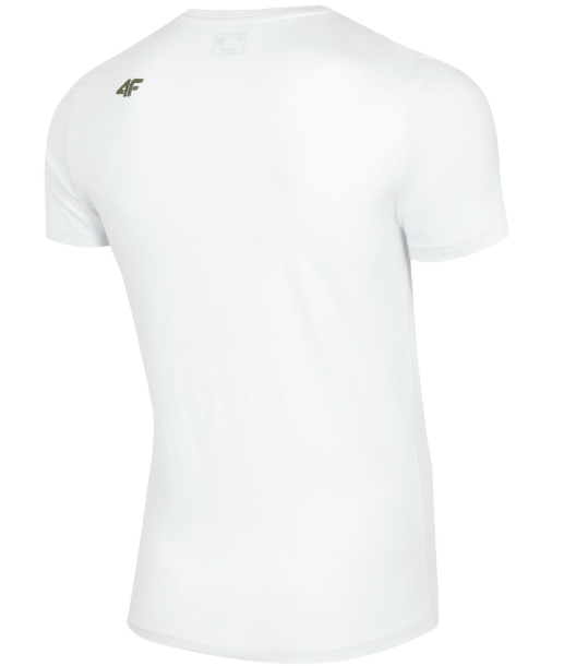 T-shirt męski 4F TSM006  BIAŁY bawełna