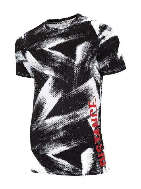 T-shirt męski 4F TSM008 CZARNO-BIAŁY