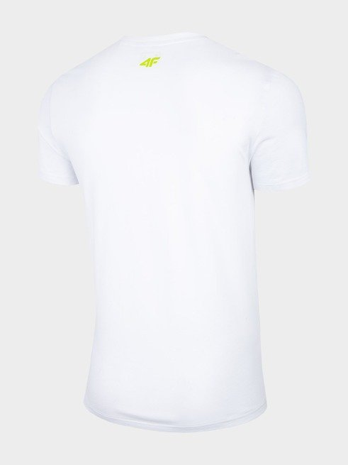 T-shirt męski 4F TSM013 BIAŁY bawełna
