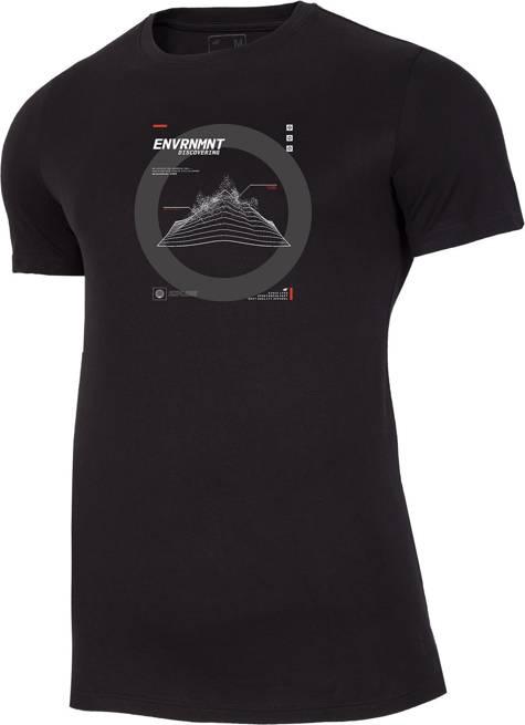 T-shirt męski 4F TSM014 bawełniany czarny
