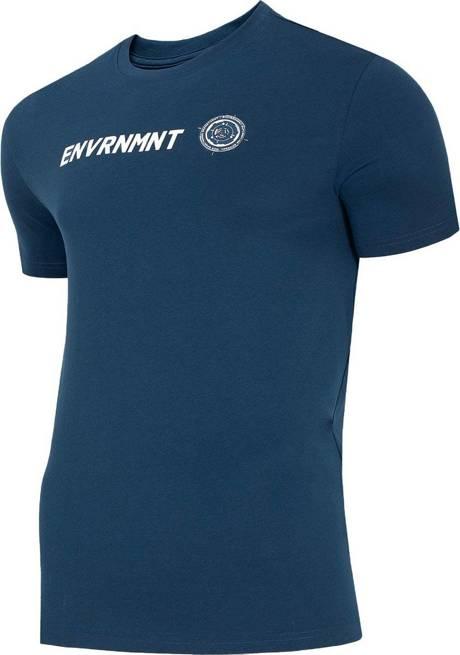 T-shirt męski 4F TSM016 bawełniany granatowy