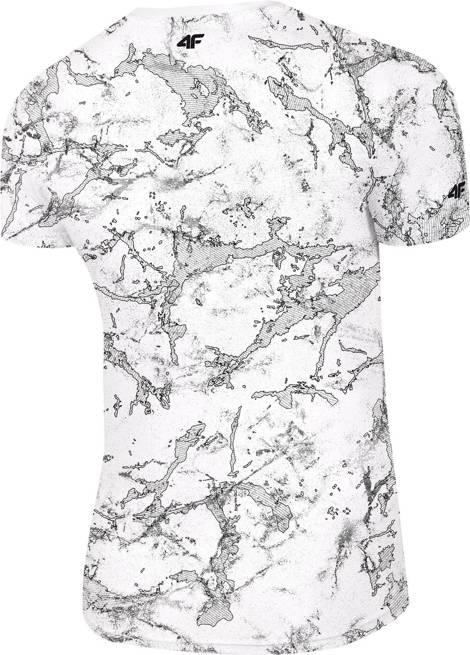 T-shirt męski 4F TSM018 bawełniany biały