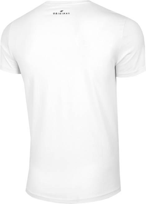 T-shirt męski 4F TSM019 bawełniany biały
