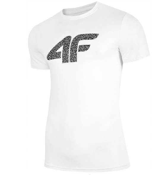 T-shirt męski 4F TSM020 bawełniany biały XL